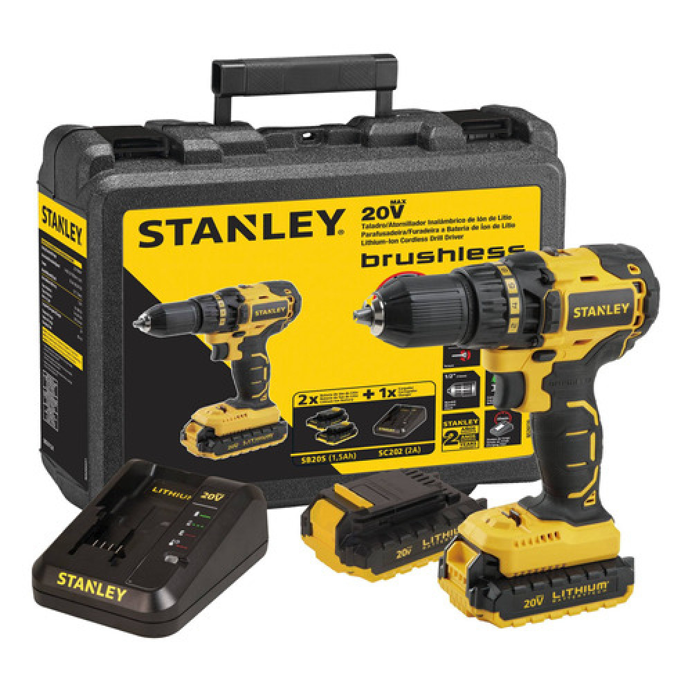 Stanley Taladro Inal. 20v S/carb. Sbd201s2k-b2c