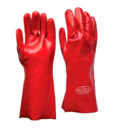 Guante Pvc Rojo 35 Cm 14 Acidos