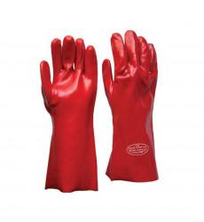 Guante Pvc Rojo 45 Cm 18 Acidos